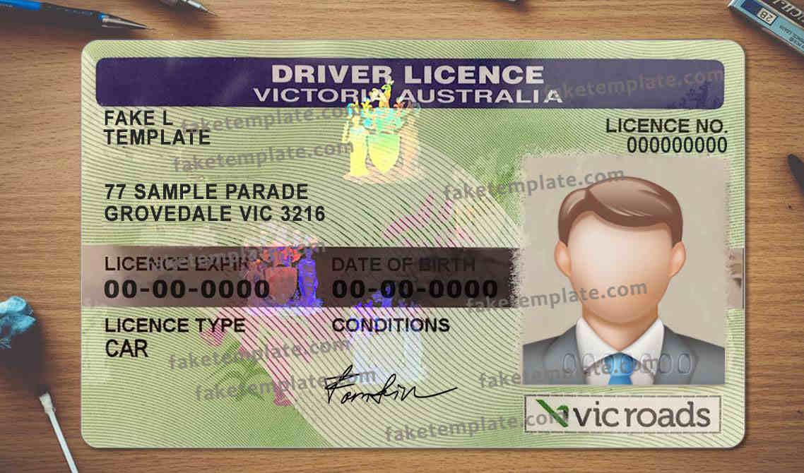 Victoria Australia Driver License