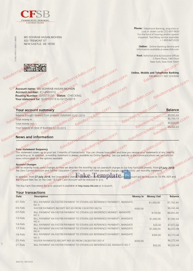 Fake Bank Statement Template from www.faketemplate.com