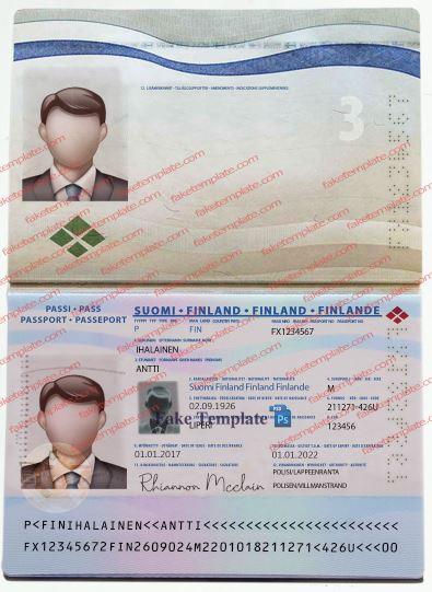 Finland Passport Template