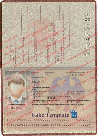 Germany Passport Template v2