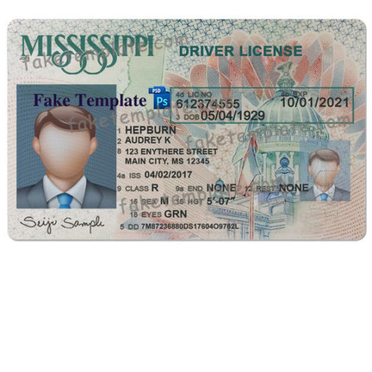 mississippi-drivers-license-template-01