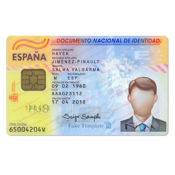 Spanish Id Card Template Spain Id Card Psd Template V2