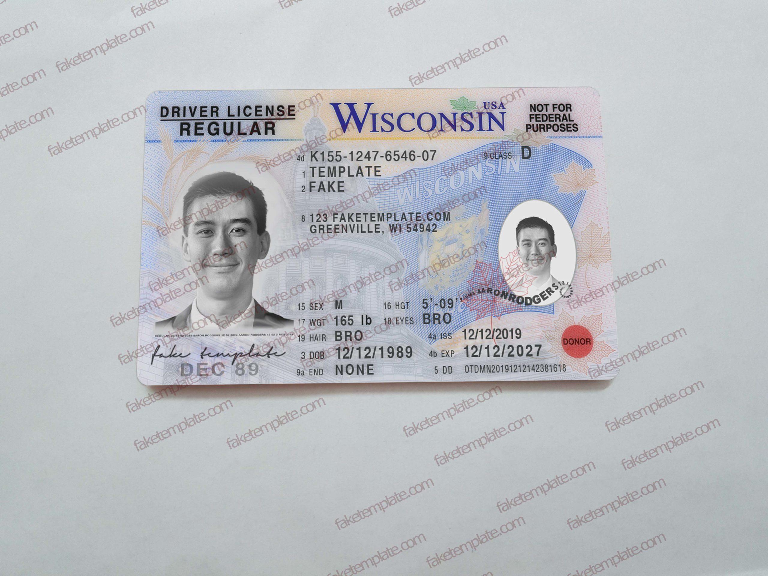 driver license template custom order
